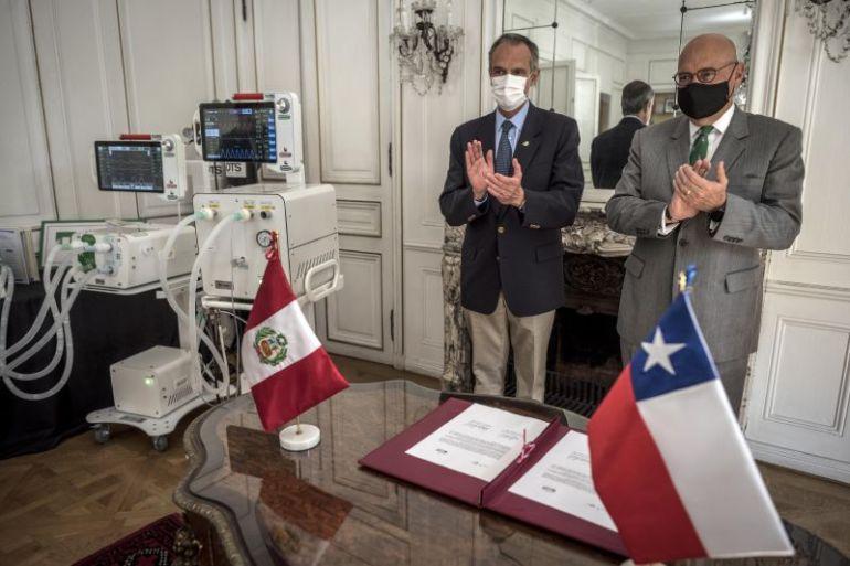CMPC dona ventiladores a Perú desarrollados con tecnología chilena