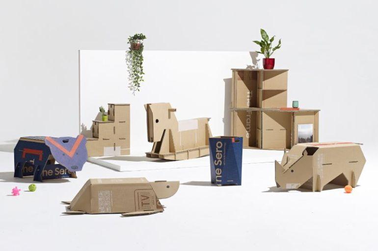 Samsung y la revista de diseño Dezeen premian idea de embalaje ecológico que se convierte en animales