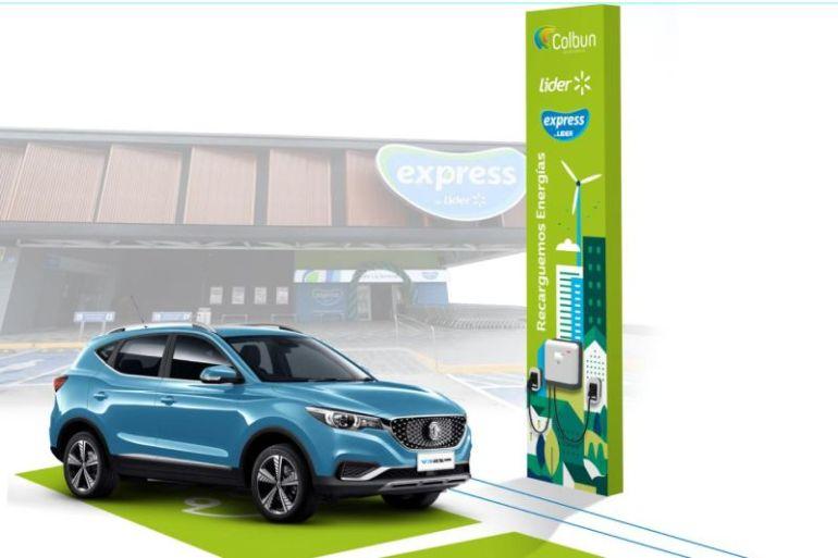 Walmart Chile y Colbún acuerdan suministro de energía renovable e instalación de estaciones de carga para autos eléctricos en supermercados del país