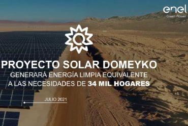 Enel Green Power Chile comienza la construcción de su nuevo parque fotovoltaico Domeyko de 204 MW en la Región de Antofagasta