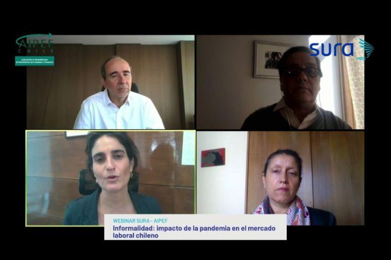 Informalidad: impacto de la pandemia en el mercado laboral chileno abordó Webinar AIPEF- SURA