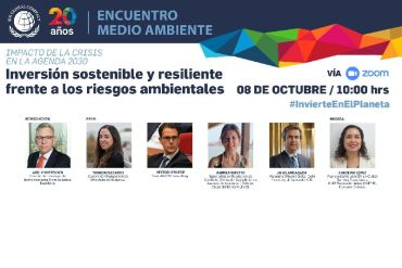 """Pandemia y Medio Ambiente: """"Inversión sostenible y resiliente frente a los riesgos ambientales"""""""