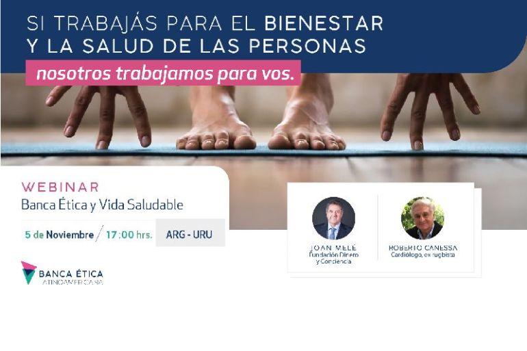 Joan Melé y Roberto Canessa nos hablan de Banca Ética y Vida Saludable en seminario virtual