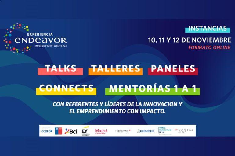 """Evento gratuito y virtual de Endeavor Chile reunirá a reconocidos emprendedores """"Scale-Up"""" que están transformando el mundo para inspirar y conectar al ecosistema local"""