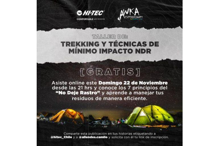 """Workshop gratuito """"No Deje Rastro"""": Excursionismo y Trekking de mínimo impacto organizado por Awka Expediciones y HI-Tec"""