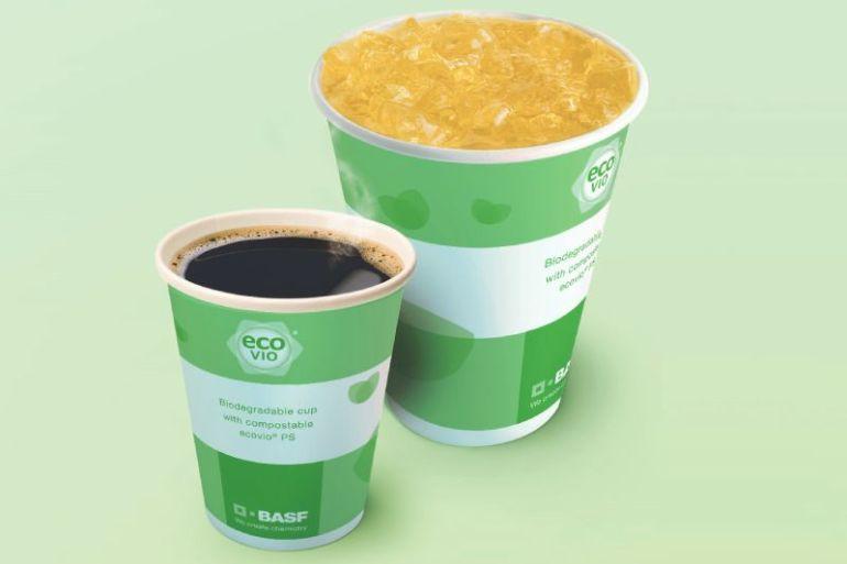 BASF desarrolló recubrimiento de biopolímero para vasos de papel que se puede compostar