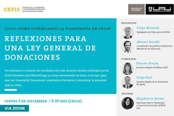 """CEFIS organizará el seminario: """"Reflexiones para una Ley General de Donaciones"""""""