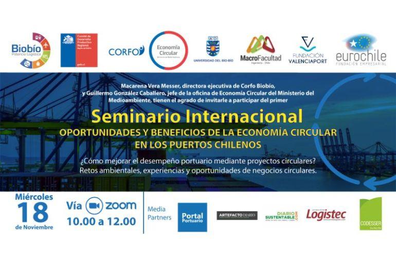 Evento promueve los negocios circulares portuarios en Chile