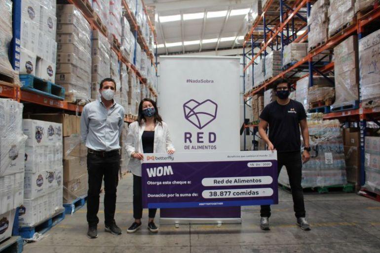 WOM activa plataforma Betterfly y entrega más de 38.000 comidas a familias vulnerables