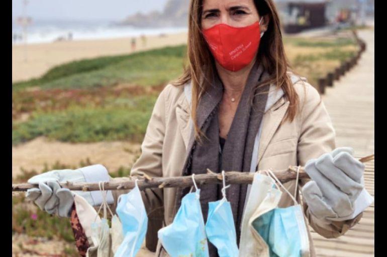Campaña Bota Responsable del Ministerio del Medio Ambiente llama a botar de forma responsable las mascarillas desechables