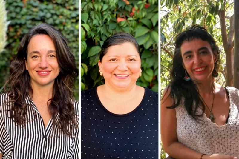 Foto: Bernardita Ojeda, Glenda Valenzuela y Luz Sotomayor