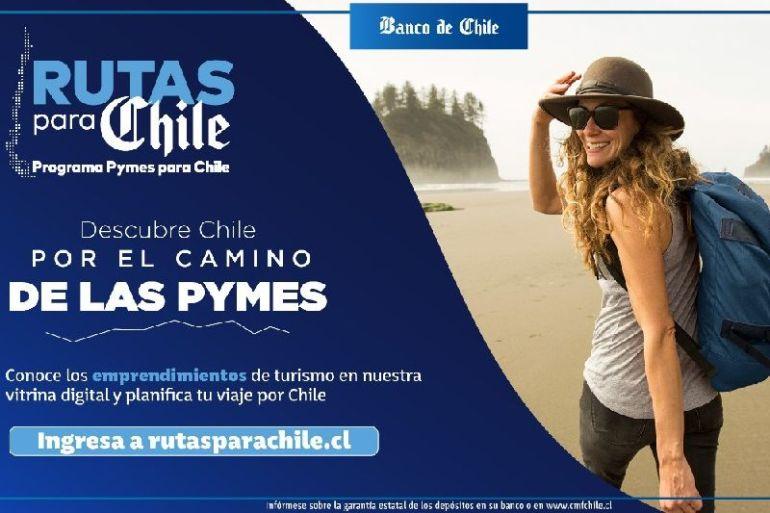 """Banco de Chile impulsa el turismo y emprendimientos locales con su programa """"Rutas para Chile"""" para fomentar la reactivación del sector"""