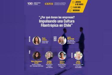 AmCham y CEFIS UAI organizan el webinar: ¿Por qué donan las empresas?, Impulsando una Cultura Filantrópica en Chile