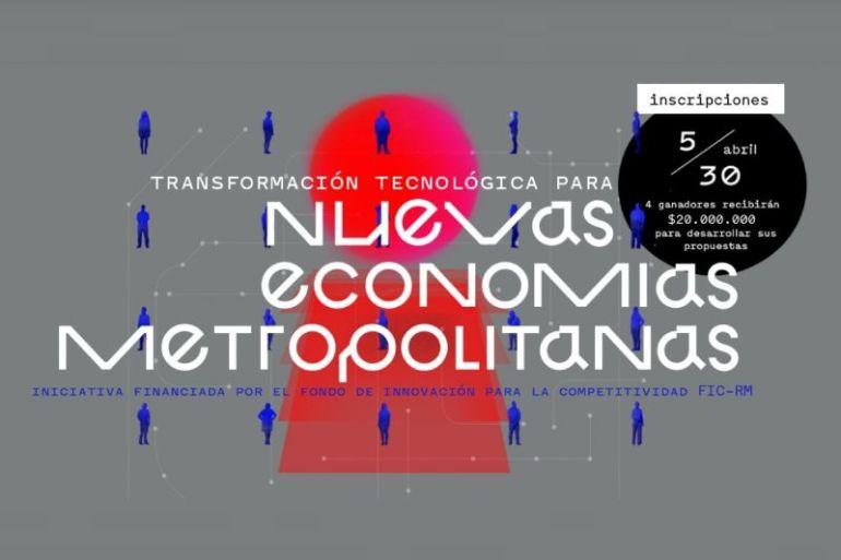 """Concurso TIC """"Nuevas Economías Metropolitanas"""": invitan a pymes a desarrollar tecnologías que potencien economías circulares y colaborativas"""