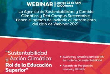 """Webinar: """"Sustentabilidad y Acción Climática: Rol de la Educación Superior"""""""