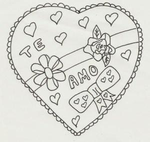 imagenes de dibujos de amor para pintar y colorear (3)