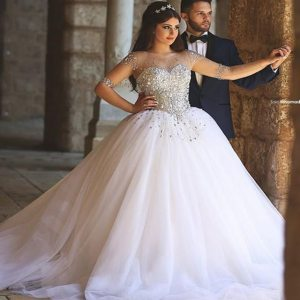 Luxury-Wedding-Dresses-Stones-and-Crystals-Sheer-For-Bride-2016-Tulle-Ball-Gown-Long-Sleevs-Muslim.jpg_640x640