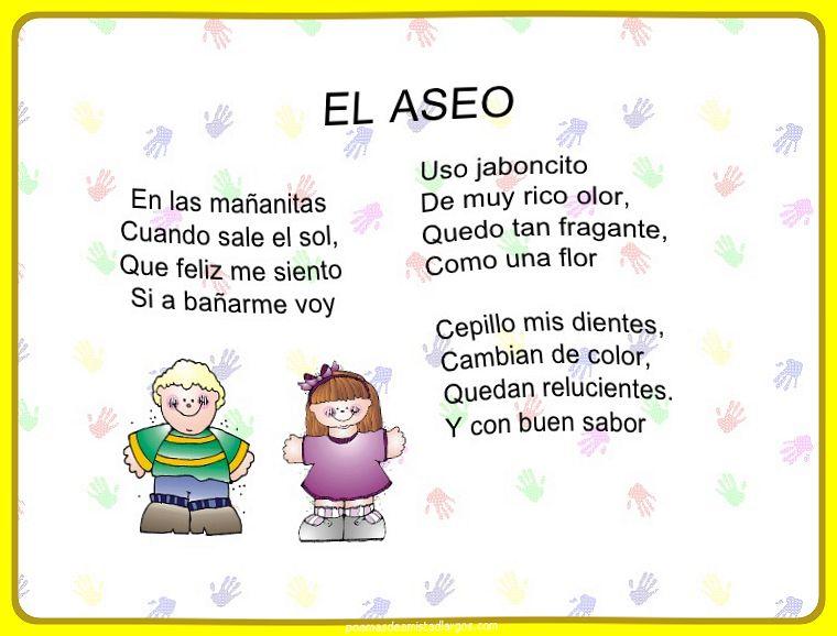 Poemas Con Rima Para Niños De Primaria Cortos Hay Niños