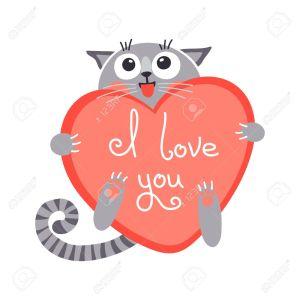 Figuras de amor con letras gato