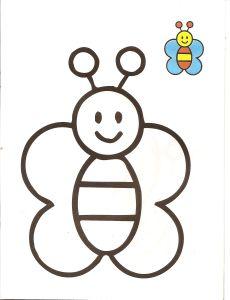 dibujos faciles mariposa