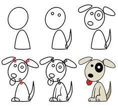 dibujo facil perro