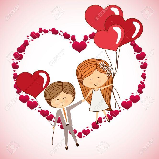 Dibujos animados de amor con movimiento