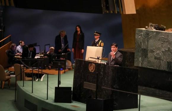 Presidente Alvarado pide menos gasto en armamento y más inversión contra la pobreza, la desigualdad y el cambio climático