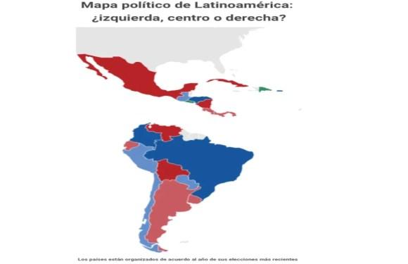 Así se ve el mapa político en Latinoamérica (infografía)
