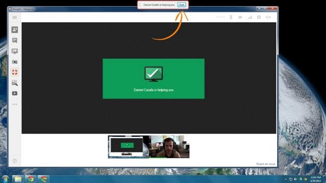 Hangouts-Acceso Remoto a otra PC
