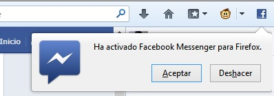 Activar Facebook Messenger para Firefox
