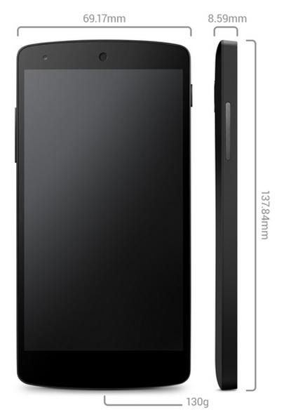 Nexus 5, especificaciones