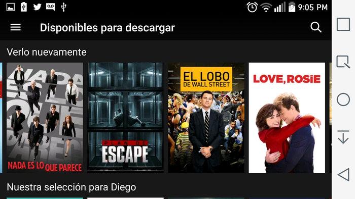 Netflix Offline en Android