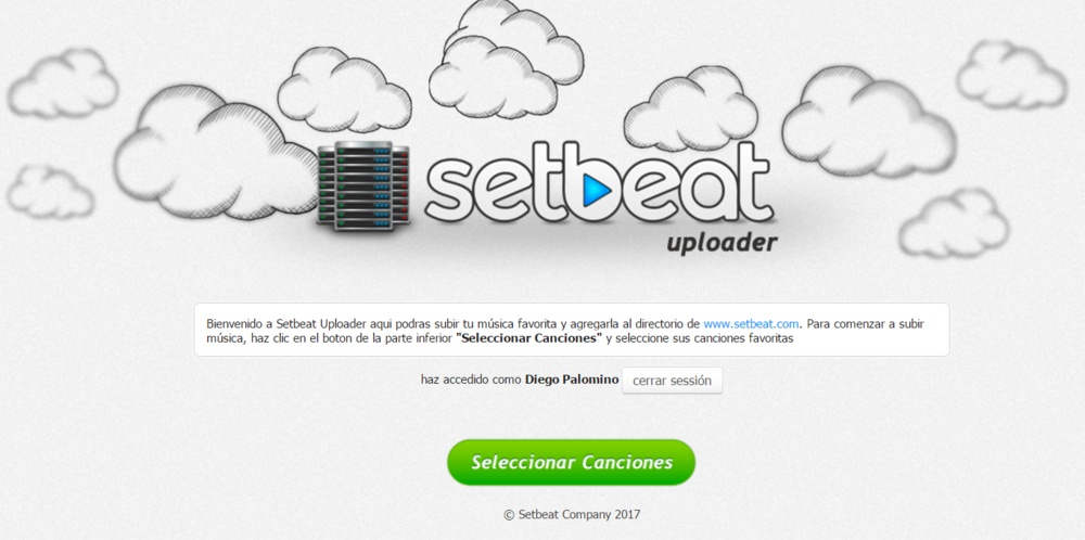 Setbeat subir musica