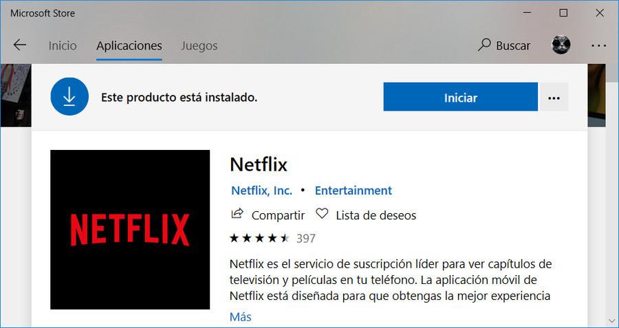 Descargar Netflix de la tienda de Microsoft