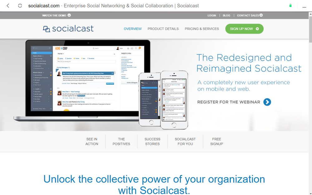 SocialCast Red Social Empresarial