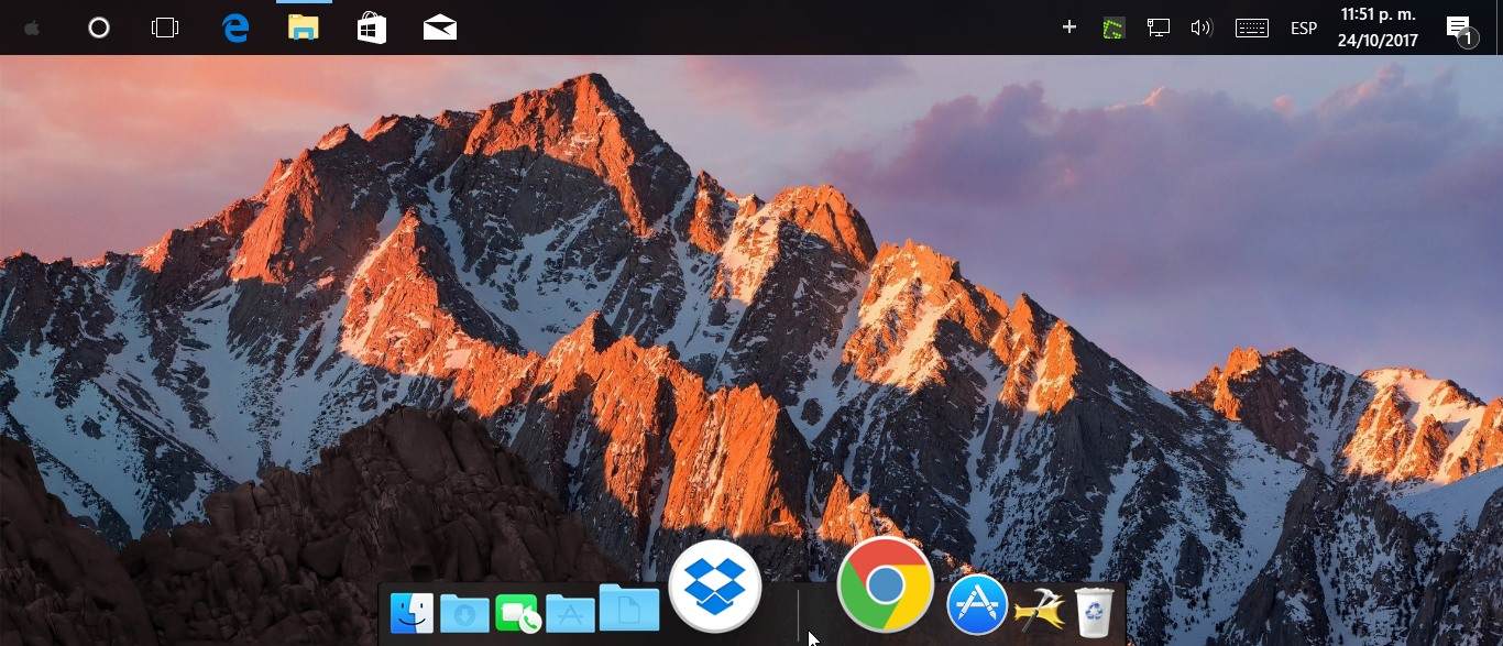 Personalizar Windows 10 macOS