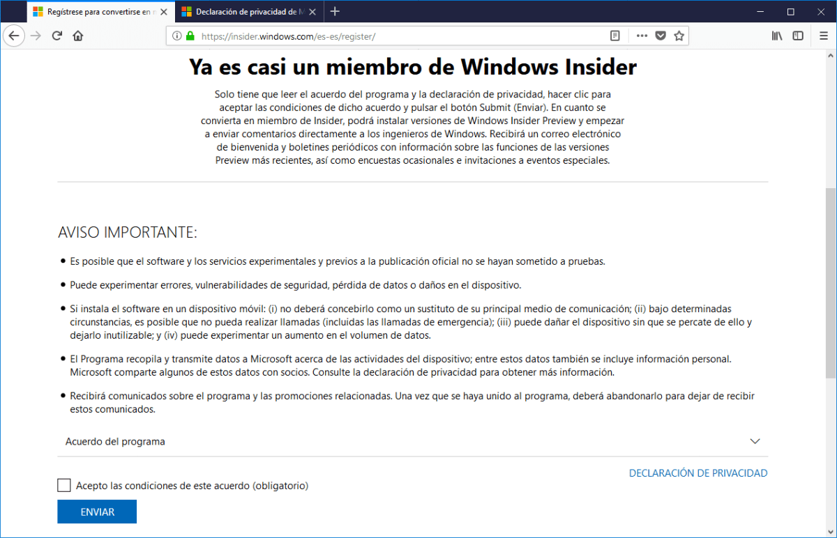 Programa Windows Insider