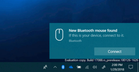 Emparejar bluetooth en Windows 10 Redstone 4