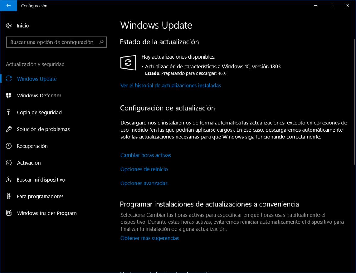 Actualizar a Windows 10 Redstone 4
