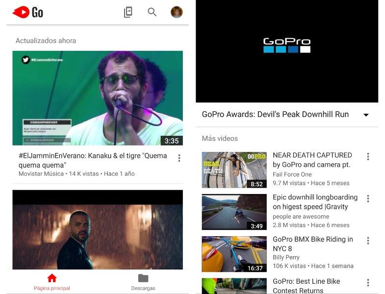 Youtube Go descargar videos