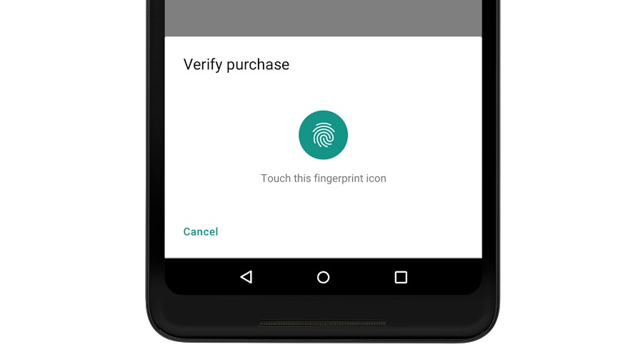 Indicador biométrico de Android 9