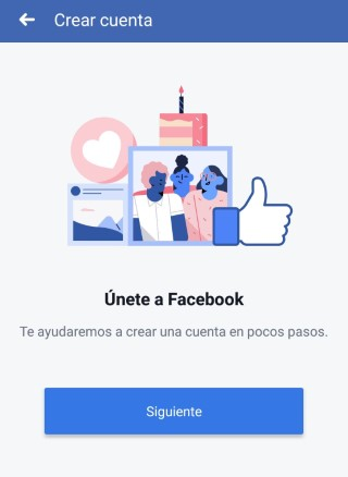 registrase en Facebook para celular