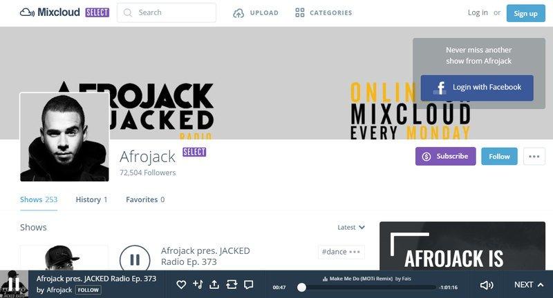 Mixcloud: remixes, pódcats y radio