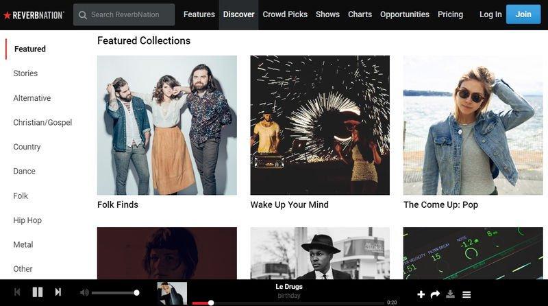 ReverbNation, escuchar música gratis de artistas independientes
