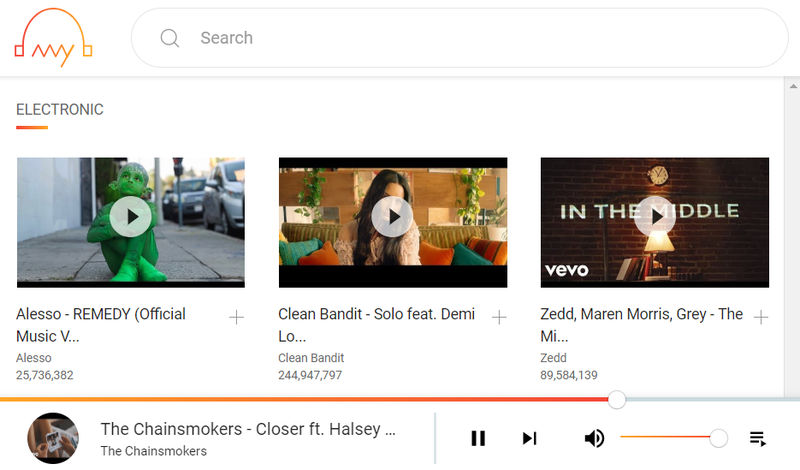 AnyAudio escuchar música gratis de Youtube