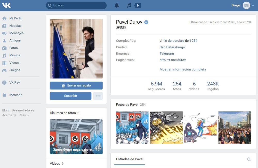 VK, Vkontakte, la red social rusa