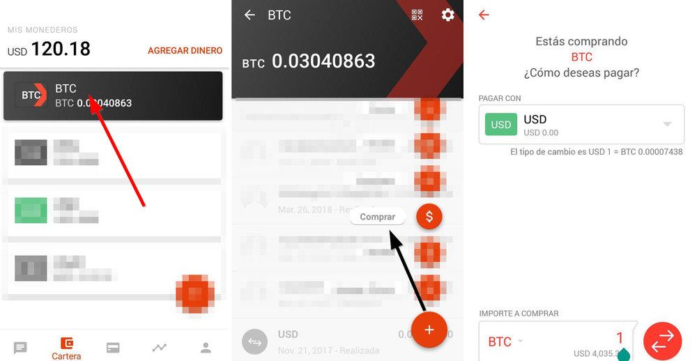 Comprar Bitcoins desde el celular