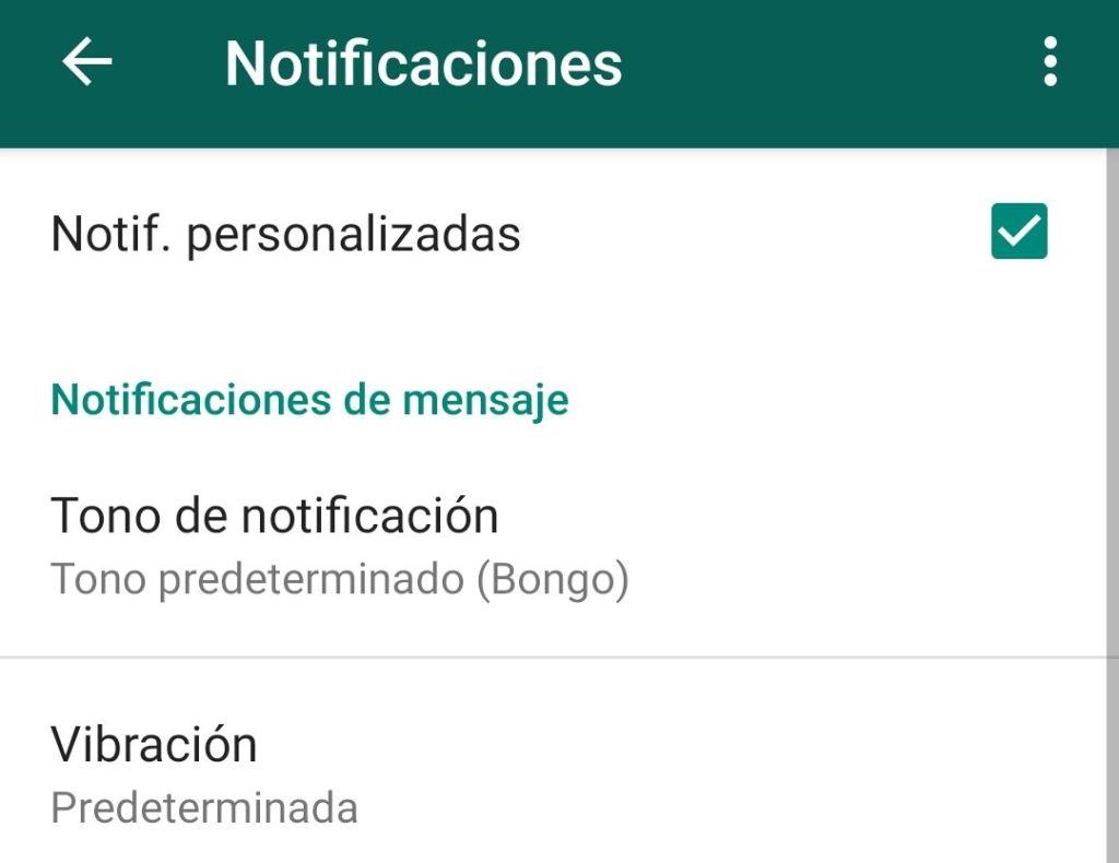 Notificaciones personalizadas para contactos