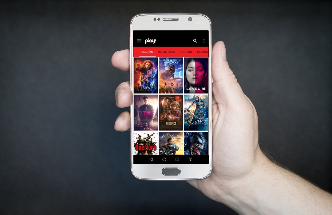 Play app de películas gratis Android