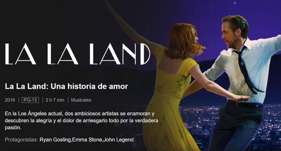 La la Land película de amor Netflix